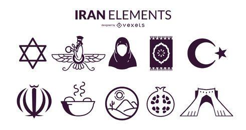 Conjunto de Design de elementos do Irã