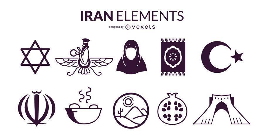 Iran Elements Design Set