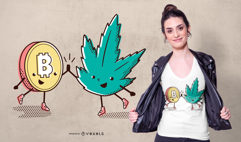 Diseño de camiseta 420 Bitcoin