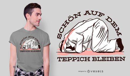Design de camiseta com citações alemãs muçulmanas