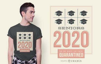 Diseño de camiseta Seniors 2020 Friends