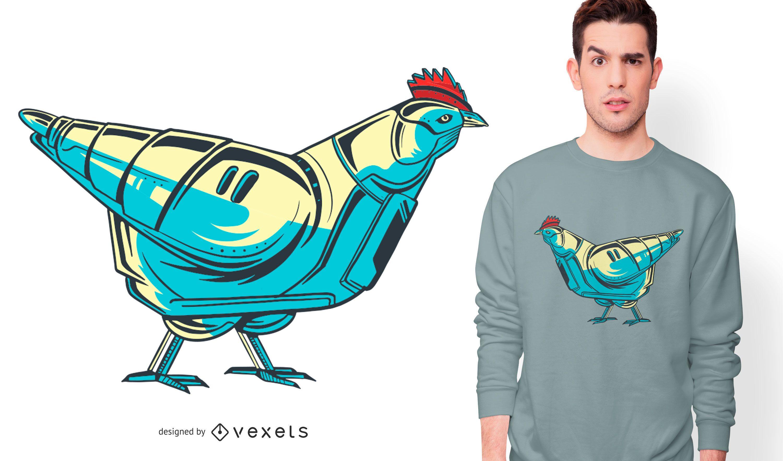 Chicken Robot T-shirt Design