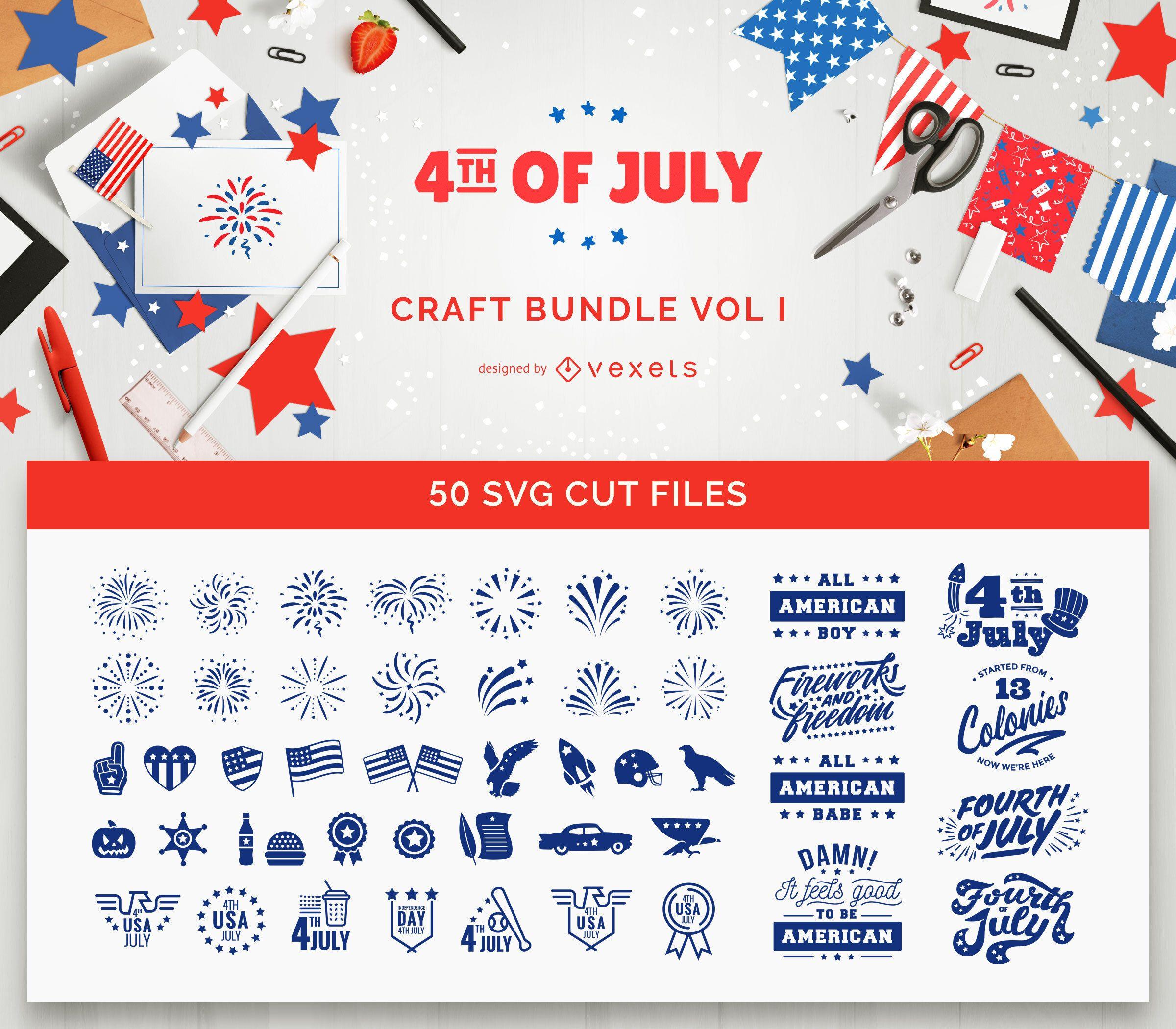 Paquete de manualidades del 4 de julio Vol I