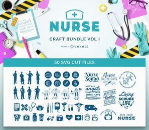 Paquete de SVG de enfermera Vol I
