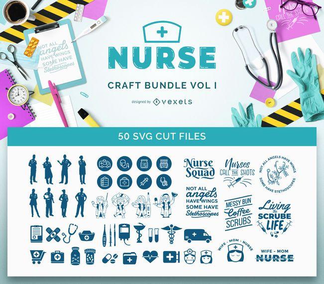 Enfermera SVG Bundle Vol I