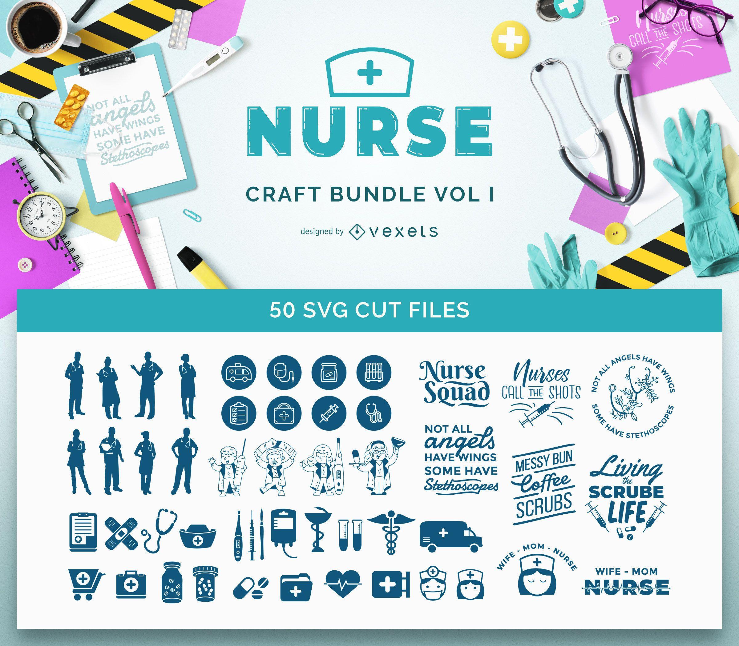 Nurse SVG Bundle Vol I