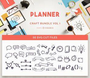 Paquete de manualidades de planificador Vol I