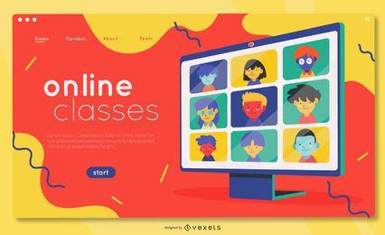 Plantilla de página de destino de cursos online