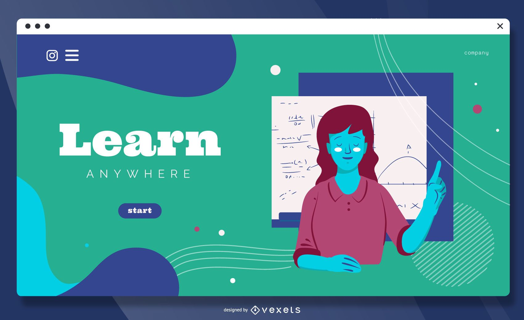 Learn anywhere landing page template