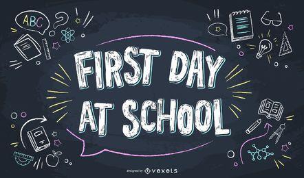 Erster Schultag Schriftzug