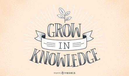 Crecer en el diseño de letras de conocimiento
