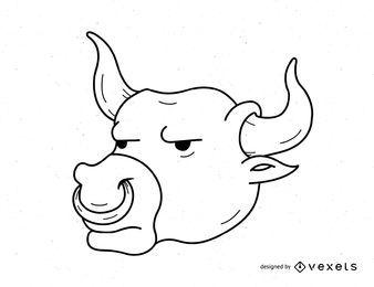 Vector toro molesto