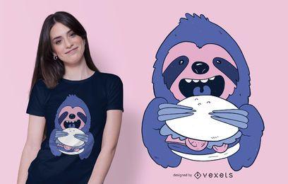 Diseño de camiseta de Burger Sloth