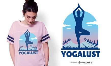 Yogalust Yoga T-shirt Design