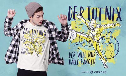 Design de camiseta com citações alemãs de handebol
