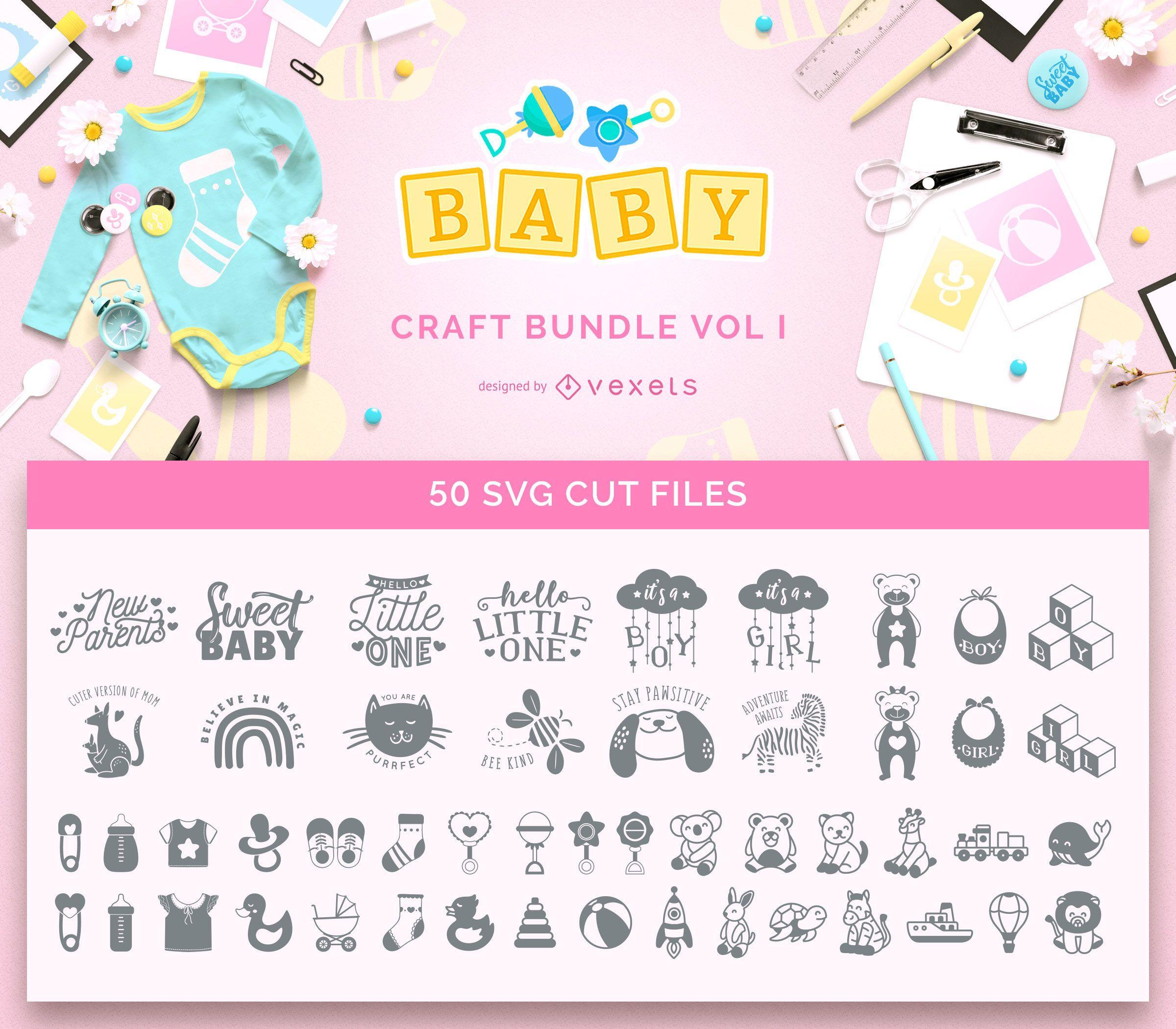Paquete de manualidades para beb?s Vol I
