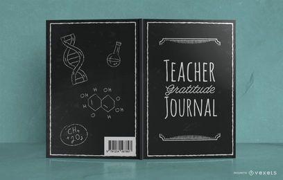 Jornal do professor Doodle Design da capa de livro