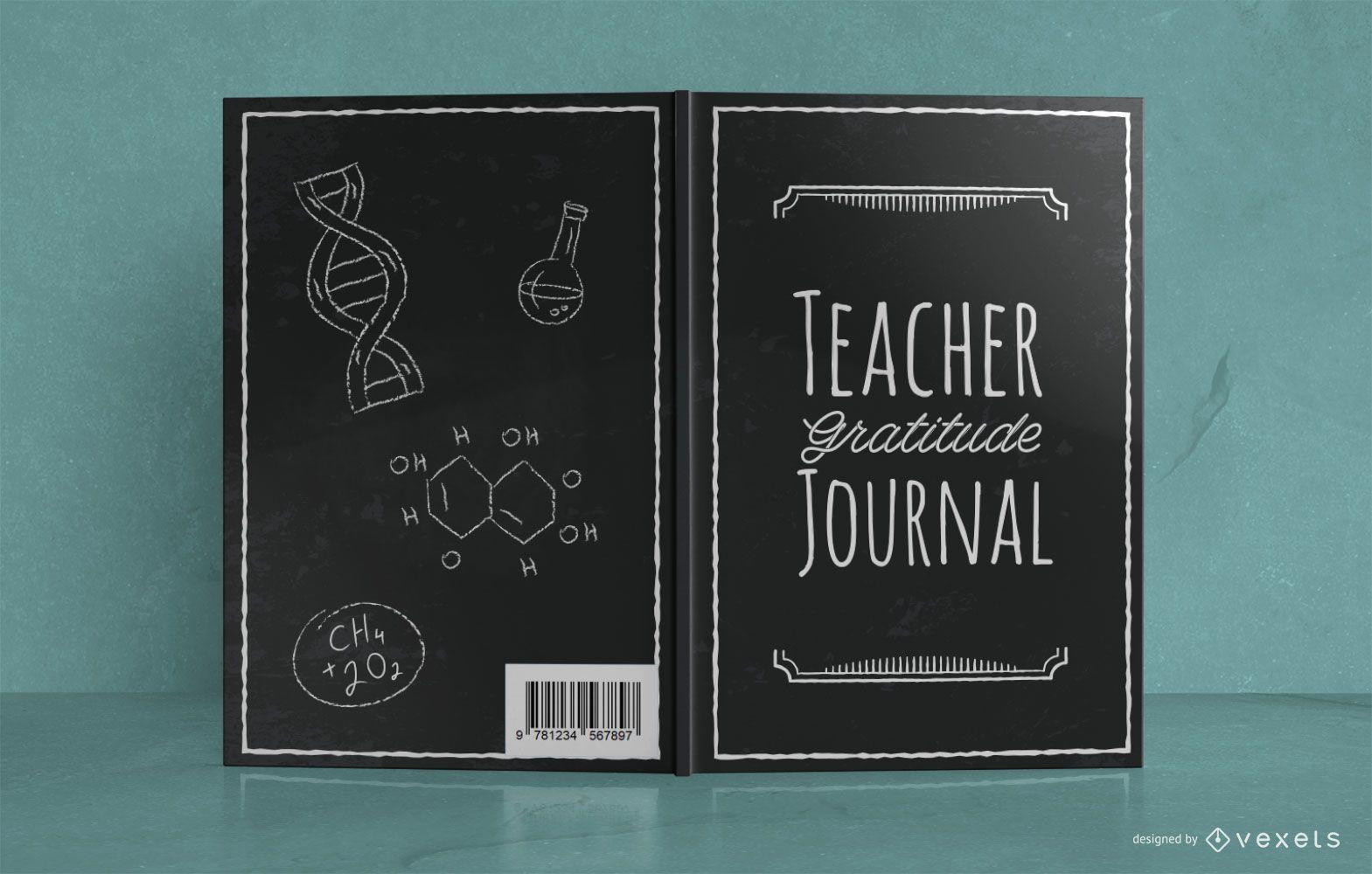 Diseño de portada de libro de Doodle de diario del profesor