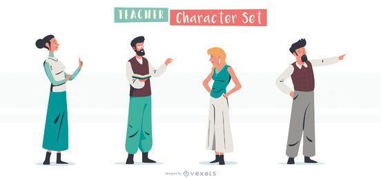 Conjunto de caracteres de professores