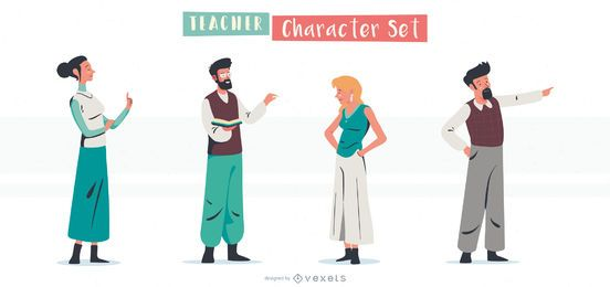 Teachers character set