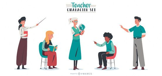 Teacher People Character Pack