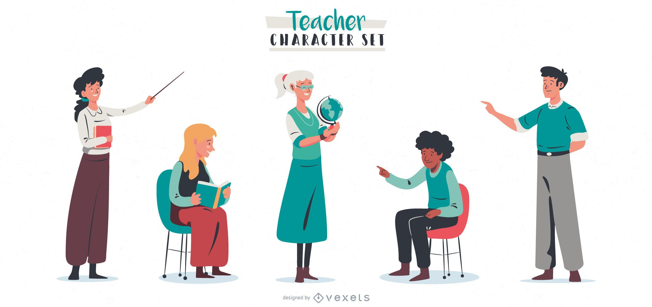 Paquete de personajes de Teacher People
