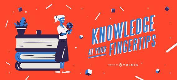 Wissen an Ihren Fingerspitzen Schieberegler