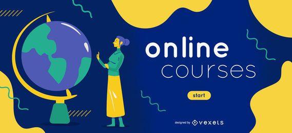 Modelo de controle deslizante de e-learning de cursos online