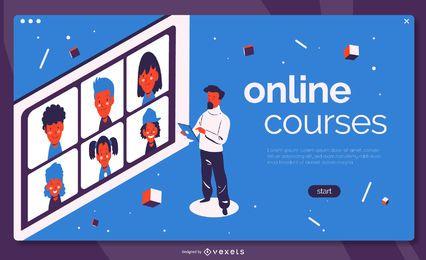 Zielseite für Online-Kurse