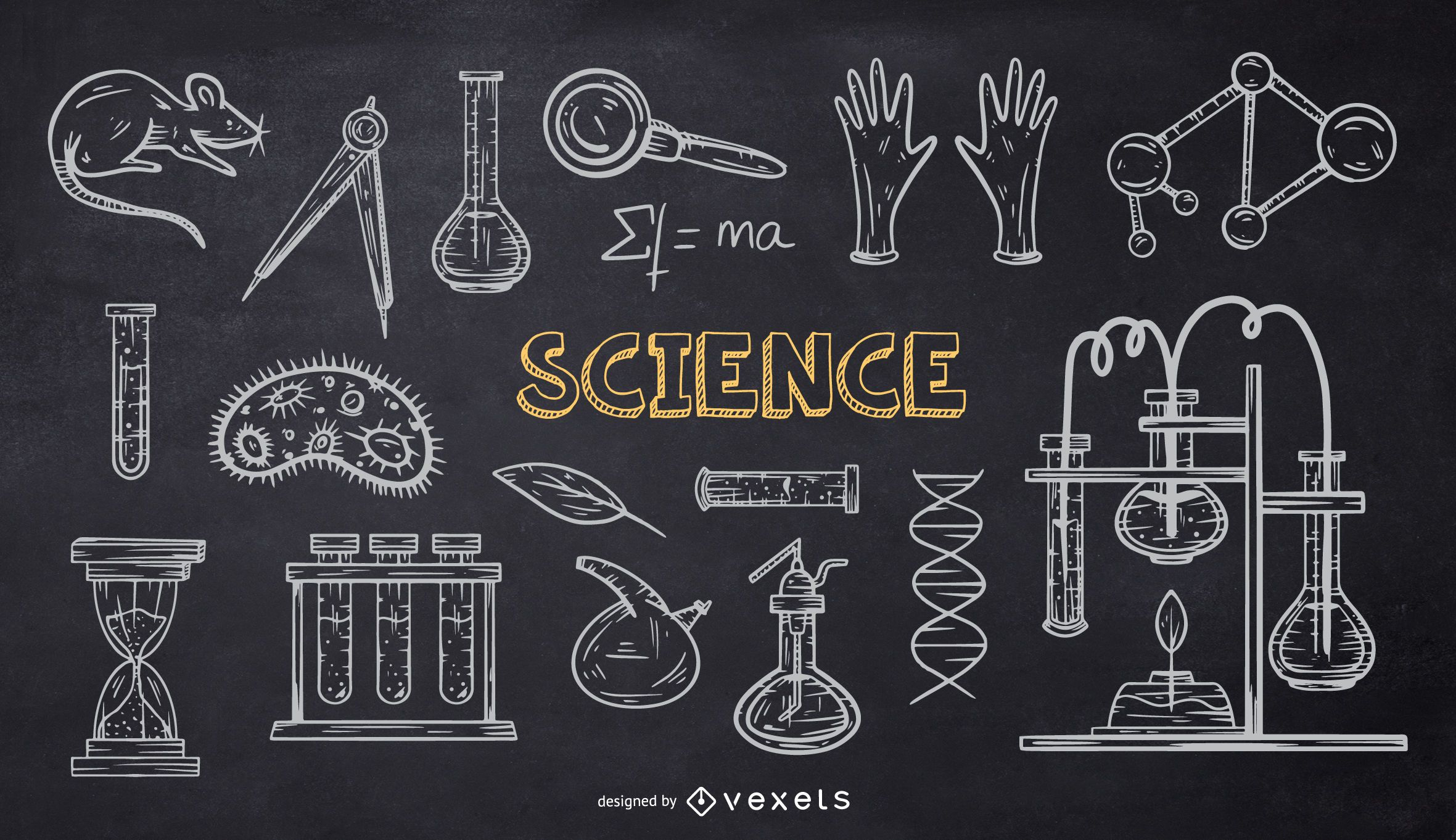 Science School Chalk Doodle Pack