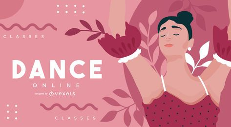Diseño de portada de clase de baile en línea