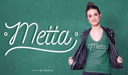 Metta Text T-shirt Design