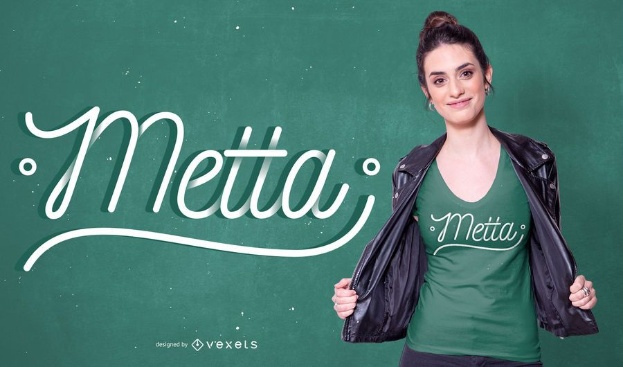 Metta Text T-shirt Design
