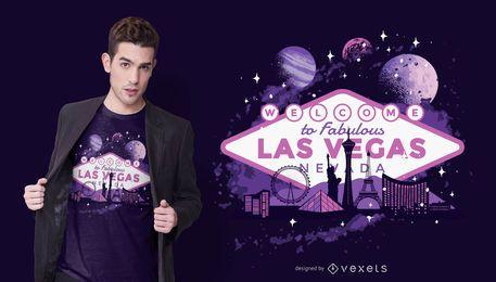 Design de t-shirt de Las Vegas