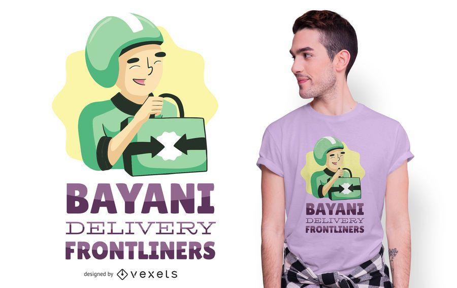 Diseño de camiseta de entrega de héroes
