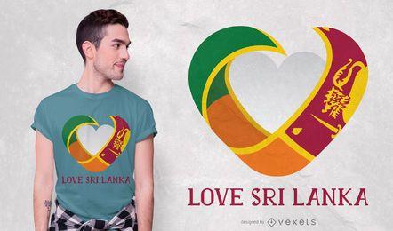Diseño de camiseta de amor sri lanka