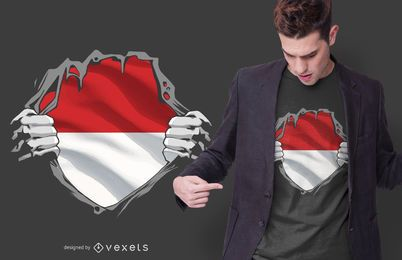 Indonesien T-Shirt Design