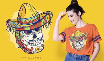 Diseño de camiseta de taco mexicano