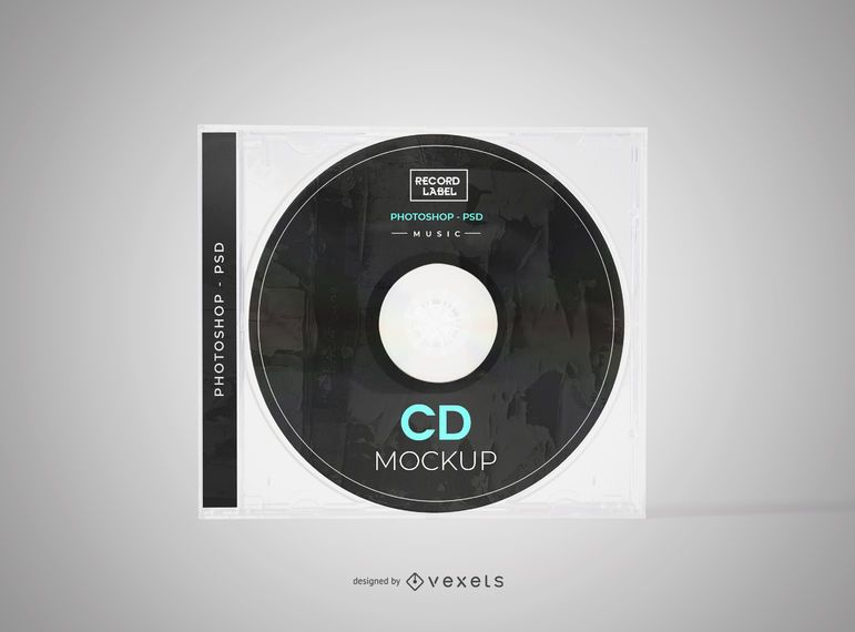Compact Disc Cover Mockup