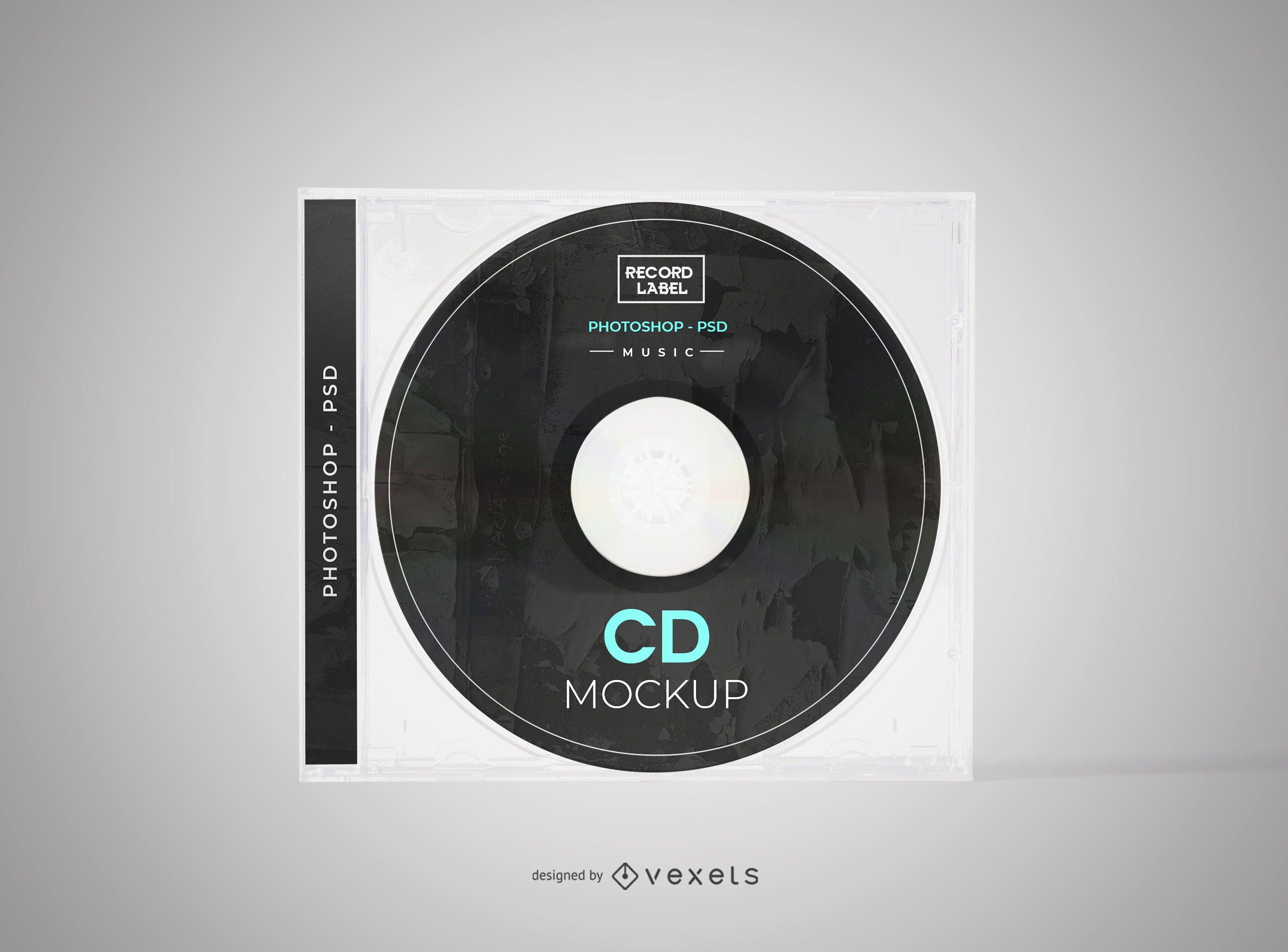 Maqueta de cubierta de disco compacto