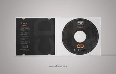 Maqueta de caja de CD abierta