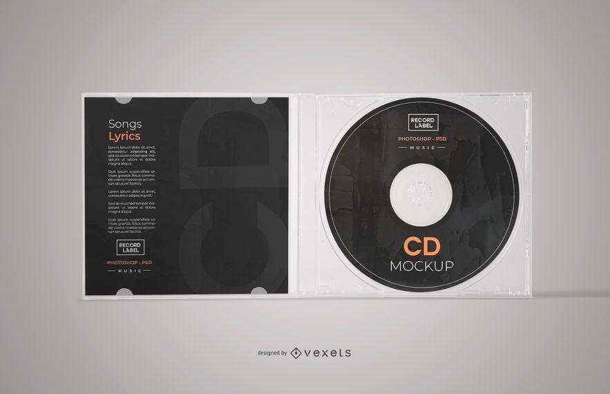 Open CD Case Mockup