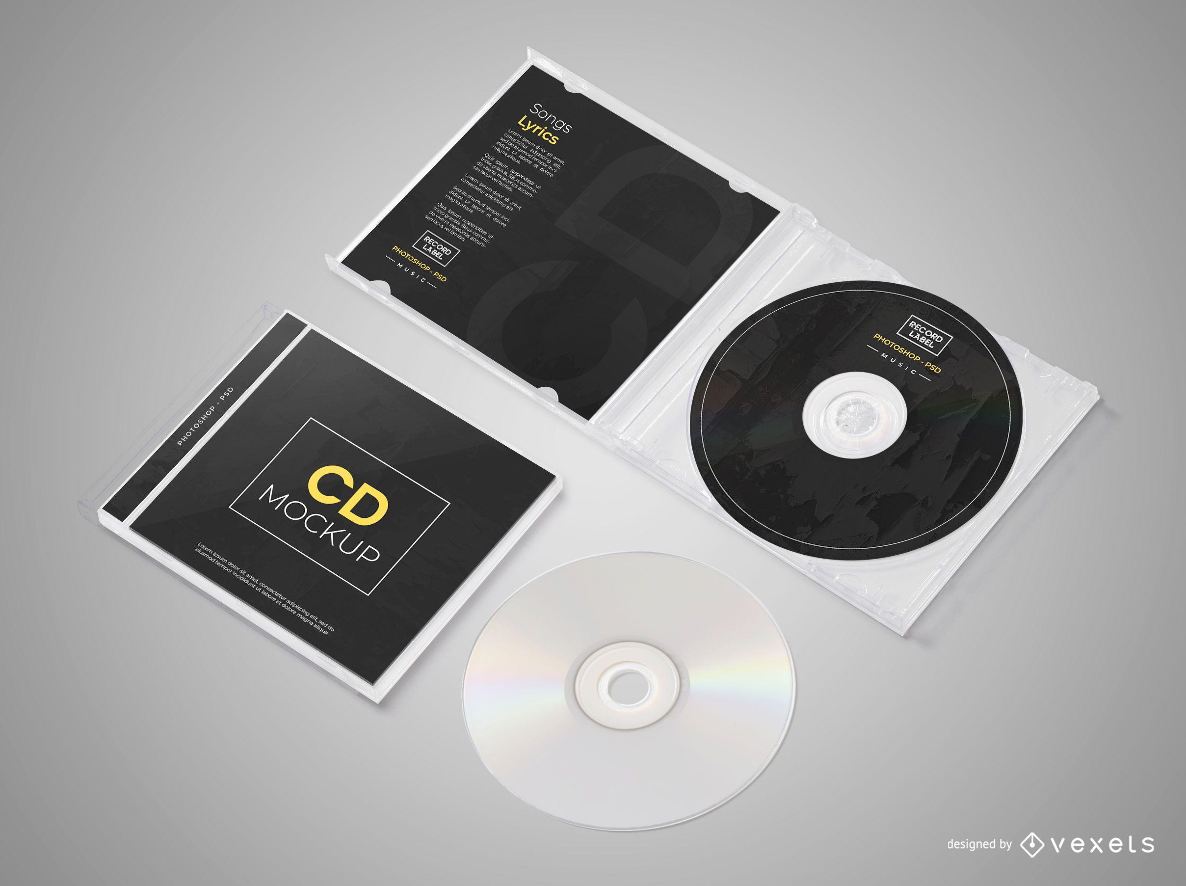 Isometric CD Mockup Set