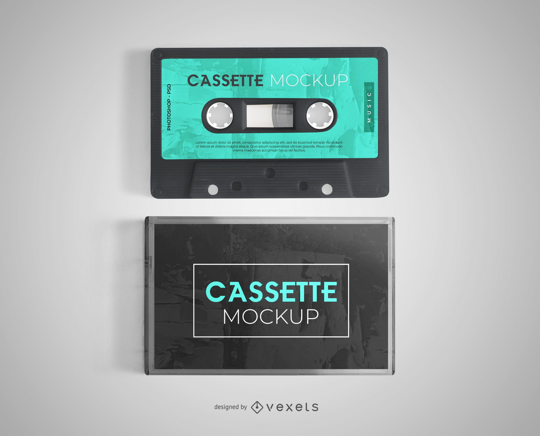 Cassette mockup design