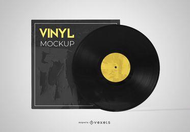 Vinyl Sleeve Record Mockup Design