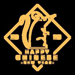 2020 Ratte chinesisches Neujahr