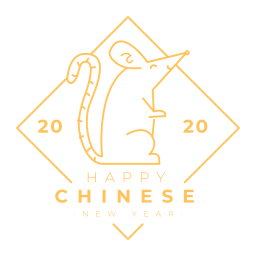2020 Ratte chinesisches Neujahr Transparent PNG