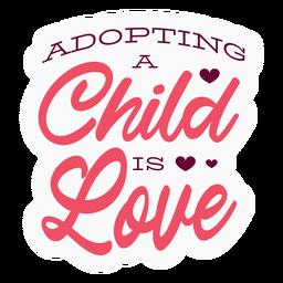 Adopting child lettering