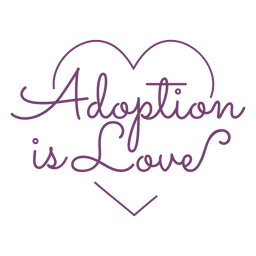 Adoption heart lettering