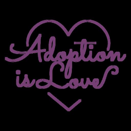 Adoption heart lettering